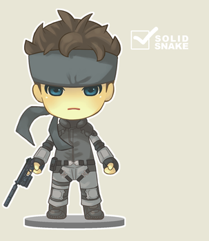 nendoroid--SOLID SNAKE by marizoh