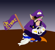 Waluigi On Strike? by TedizStalker
