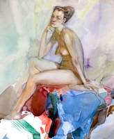 Watercolor Nude 1 by VasileSitari