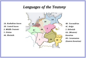 The Collapse of ERE-1930AD - Languages of Teutony by Artaxes2