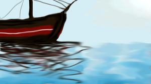 Boat with Reflections by letmeusemyname