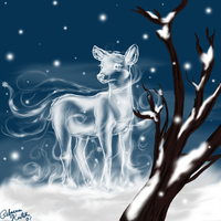 The Silver Doe by Bitterlimeparakeet