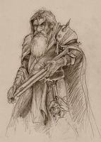 Dwarven Hunter Sketch by Kythrea