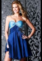 sexy blue short cocktail gown by whiteazalea