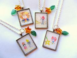 Namine's Sketches Pendants by PaintIt13lack