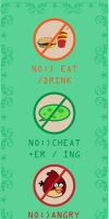 No eat no angry by argatraffic