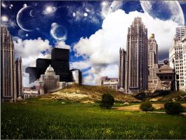 Outer space buildings by ftmdesign