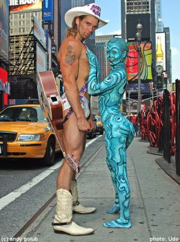 Naked cowboy not alone by Rabbit86