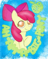 Apple Bloom is a big pony by EddiePerkins