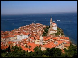 Piran over roof by renatoart