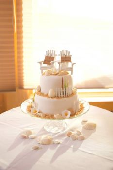 Beach Wedding Cake by cake4thought