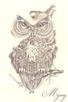 Owl design by Mymy-La-Patate