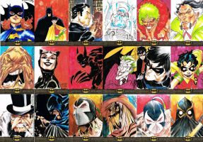 BATMAN: THE LEGEND SKETCH CARDS 2 by jerkmonger