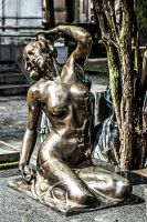 Bronze babe at the cemetary by attomanen