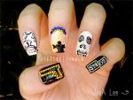 Sons Of Anarchy Nails by jeealee