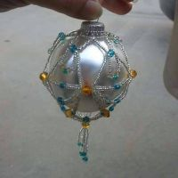 Beaded ornament cover  by screaminmimi79
