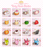 Old Tasty Peach Studio Rings by MoogleGurl