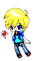 lil blond blue lover chibi by angelmolly