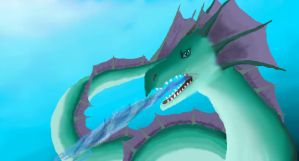 Sea Serpent is Angry by clarinetplayer