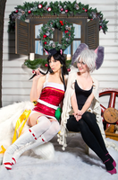 Riven and Ahri by Nyandalee
