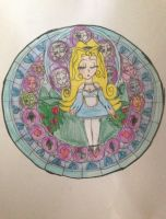Stain Glass: Mai in Wonderland by Camilia-Chan
