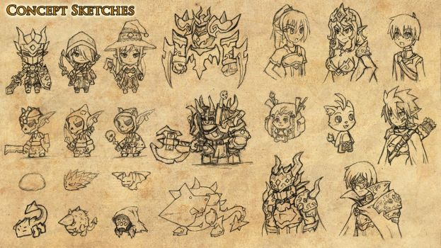 Game Concept Sketches by klyntoc