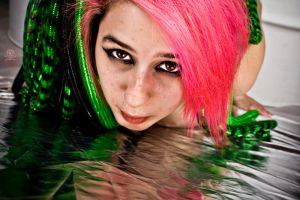 Pink and Green and Shiny and Christa by Valentine-Photo