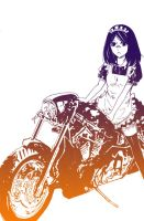 A Maid on a Motorcycle by Myamo-M