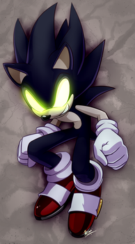 Dark Sonic (colored) by Myly14