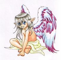 Copic angel by merrypaws