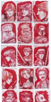 Star Wars Galaxy 4 sketch card by Javi-80