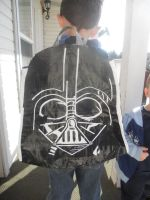 Darth Vader Duck Tape Backpack by katiesparrow1