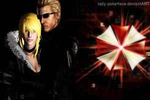 Erika x Wesker wallpaper by lady-pokerface