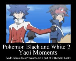Pokemon BW 2- Yaoi Moments by Muruni