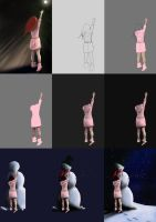 Stages of 'Warm Heart' by jht888