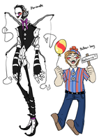 Marionette and Balloon boy by BlasticHeart