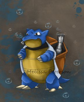 Blastoise by Melissas-Art