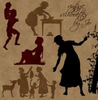 Vintage Vector Silhouettes by gojol23