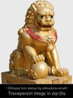 Chinese lion statue 2 by almudena-stock