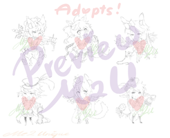 Kemonomimi Adopts Preview! by Me2Unique