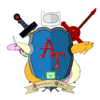Adventure Time Heraldic Shield by MrCaputo