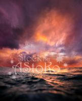 Ocean with Sunset Sky STOCK vs by AStoKo