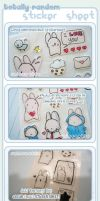 CLEAR + Embossed Sticker Sheet by RainCookie