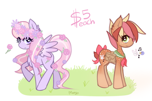 MLP Adopts - Flora + Fauna [SOLD] by moxyo