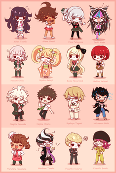 Chibi Danganronpa 2 by DancerQuartz