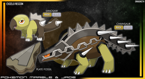 Excelo Region - Plate Fossil by Dragonith