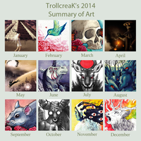 2014 Art Summary by TrollcreaK