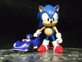Sonic The Hedgehog starts his kart racing business by forever-at-peace