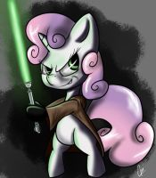 Sweetie Jedi by CursedPie
