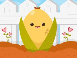 Chubchub the Corn by orangecircle